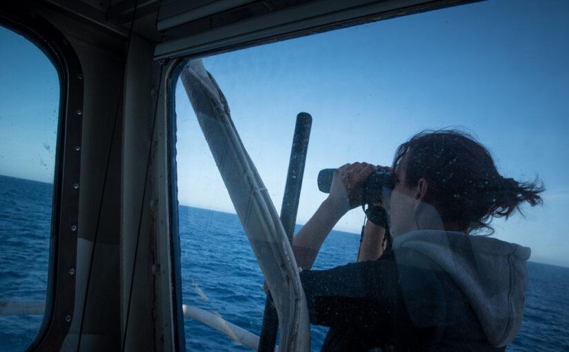 Bei der Suche nach Flüchtlingen auf See (Foto: sea-watch.org)